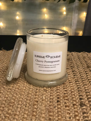 Monaco Clear Large Jar Scented Soy Candle 320g Various Fragrances
