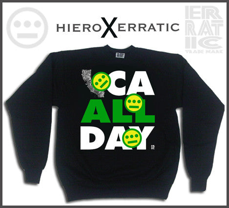 Hieroglyphics X Erratic CA All Day Crewneck