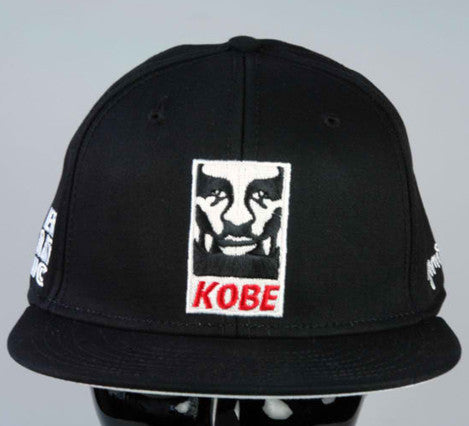 KobeY Black Snapback hat (Red/White)