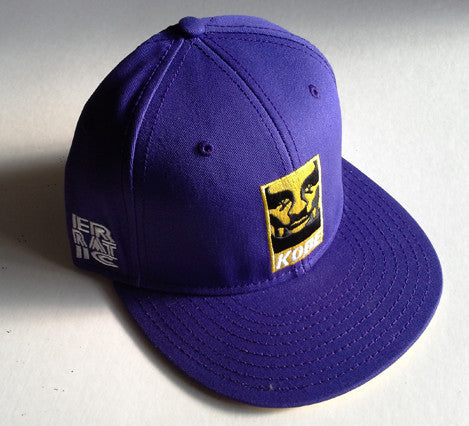 KobeY Purple Snapback hat (Yellow/White)