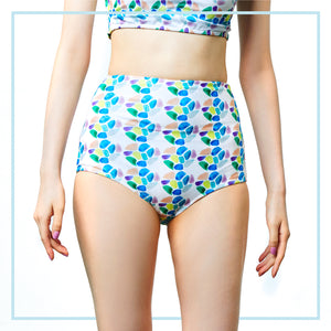 HIGH-WAIST BOTTOM / SEA GLASS DOTS