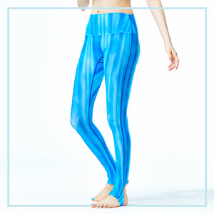 UV CUT LEGGINGS / WAVE STRIPES