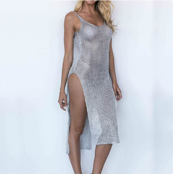 Sexy Midi Camisole Dress Beach Cover Up