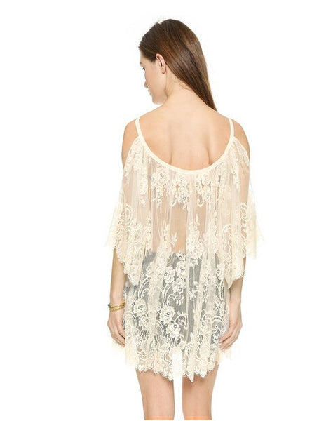Silky Lace Summer Beach Cover Up
