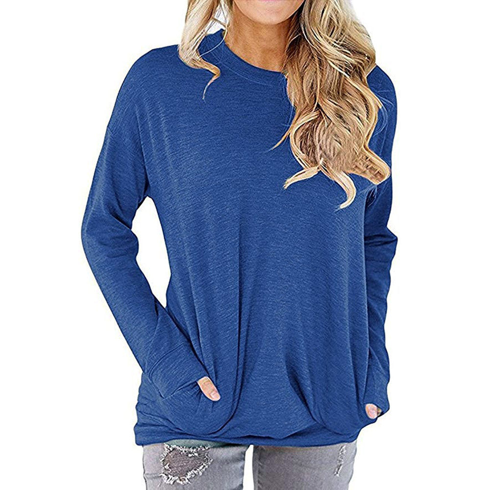 Women's Long Sleeve Basic Jumper/ Comfortable Casual Loose Fit Blouse