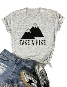 "Printed Cotton T-shirt ""Take a Hike"""