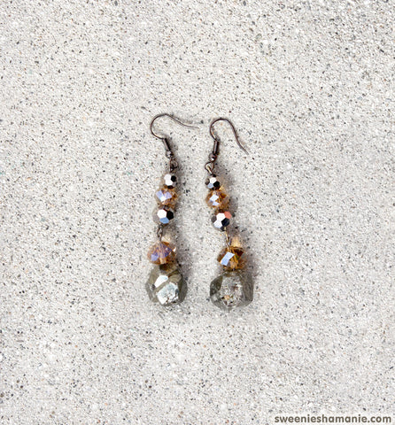Pot Of Pyrite Earrings