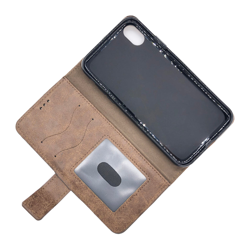 iPhone XR Luxury PU Leather Wallet Case by The Very Thing! - Ships from the USA