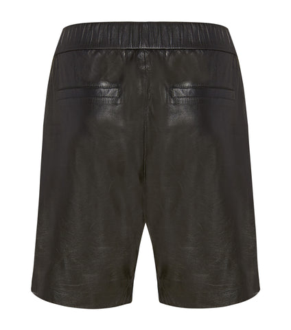 Leather Drop Crotch Shorts