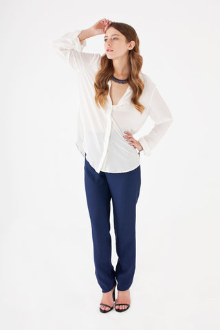 Odette Pants in Navy