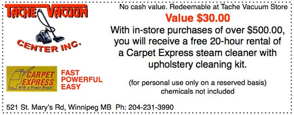 Image of coupon for carpet cleaner.