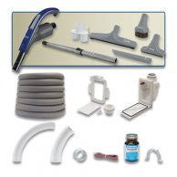 Image of Mvac Retractable Hose Attachment kit and complete installation