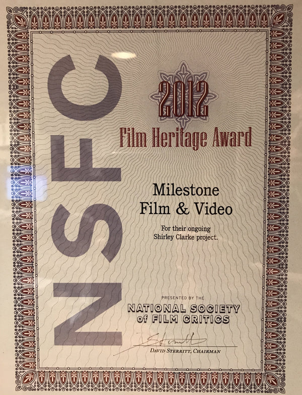 National Society of Film Critics Film Heritage Award to Project Shirley!