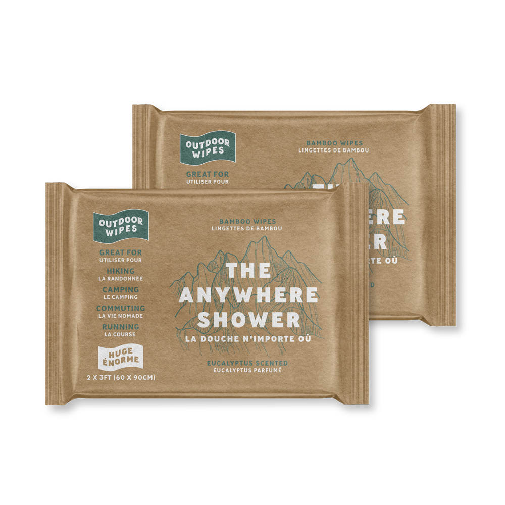 Huge Anywhere Shower-Box of 8 2'x3' Wipes - Outdoor Wipes
