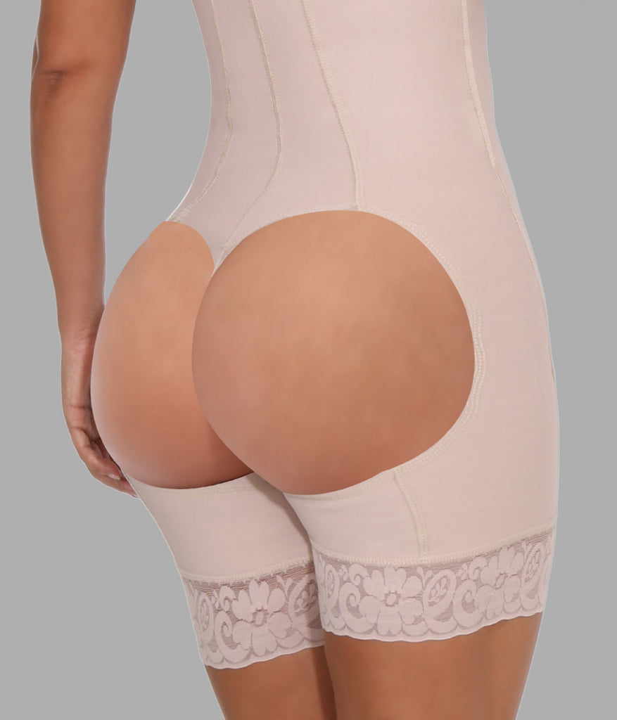Short Girdle with zipper and open holes - NYX Shapewear