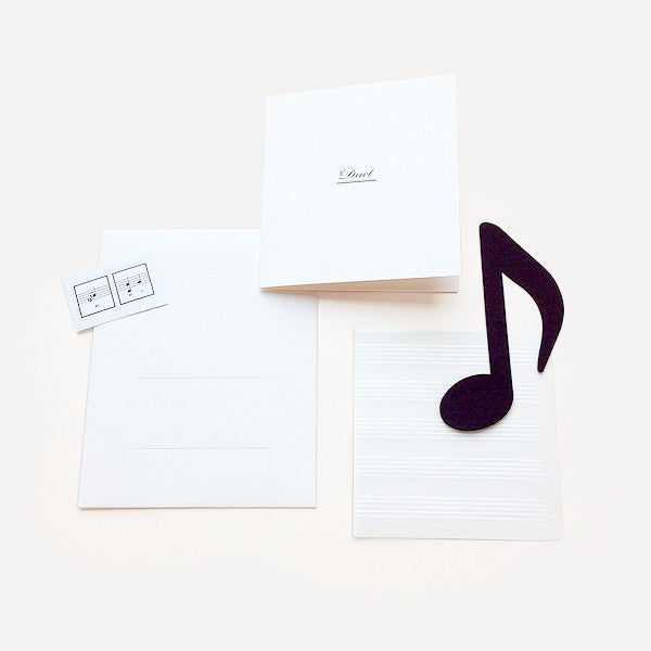 Duet Greeting Card, Ivory Version - Readymade Objects Shop - 1