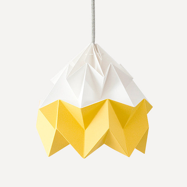 Moth Paper Origami Lamp, Gold Yellow - Readymade Objects Shop - 1
