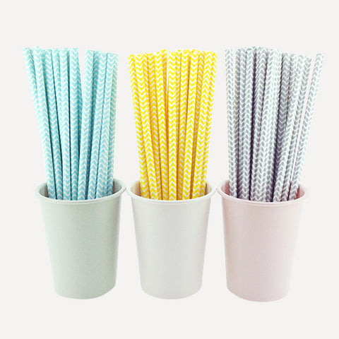Paper Straw Herringbone Set, 75pcs - Readymade Objects Shop
