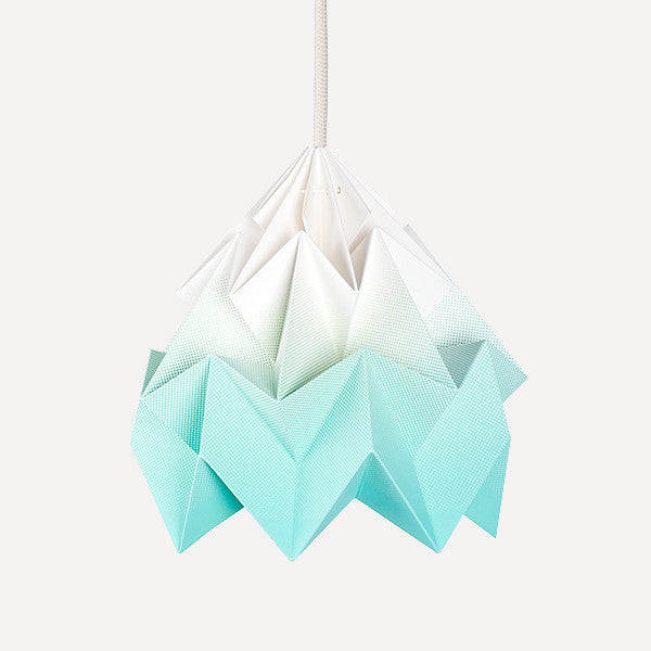 Moth Paper Origami Lamp, Gradient Mint - Readymade Objects Shop - 1