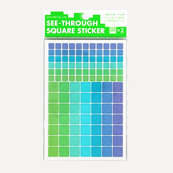 See Through Square Sticker, B set - Readymade Objects Shop - 1