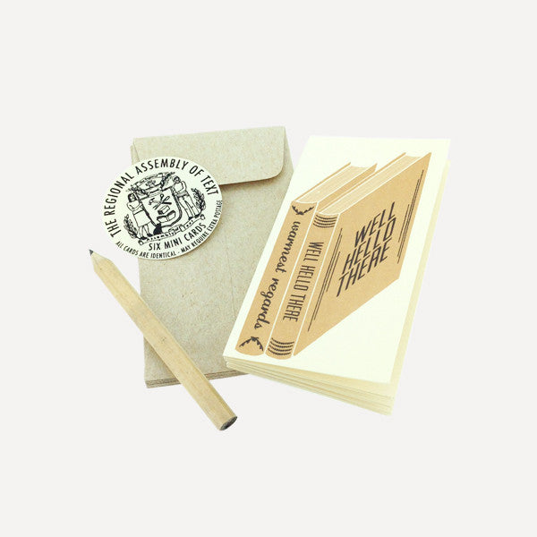 Mini Card Set, Books  (6 pcs / set) - Readymade Objects Shop - 1