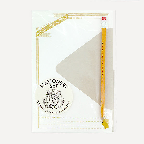 Stationery Set, Heartfelt Letter To Follow (12 pcs writing paper) - Readymade Objects Shop - 1