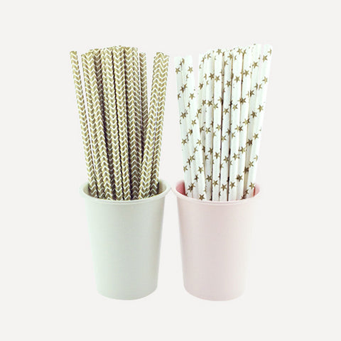 Paper Straw Glitterati Set, 50pcs - Readymade Objects Shop