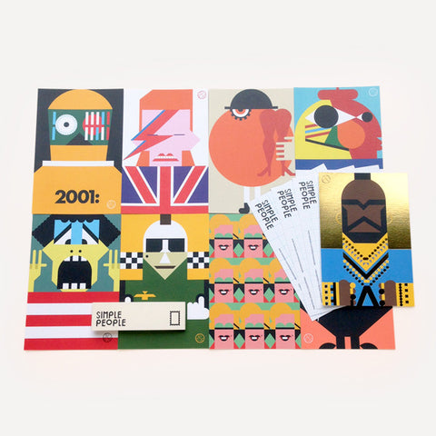 Simple People Post Card Set (12 pcs / set) - Readymade Objects Shop - 1