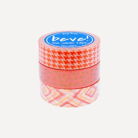 Washi Tape 10m Papaya Set, 3pcs - Readymade Objects Shop