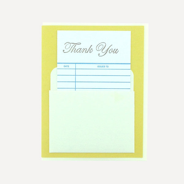 Library Card, Thank you - Readymade Objects Shop - 1