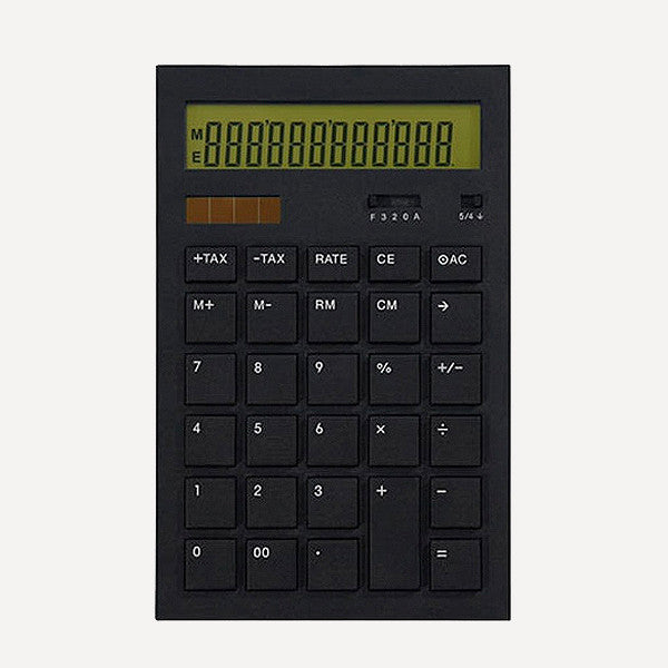 Calculator 12DD, Black - Readymade Objects Shop - 1