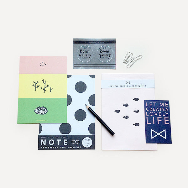 Hand Stamped Card Gift Set, Pink - Readymade Objects Shop - 1