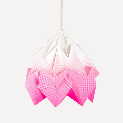 Moth Paper Origami Lamp, Gradient Pink - Readymade Objects Shop - 1