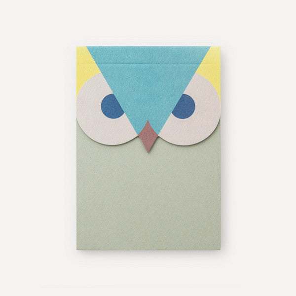 Owlendar Colour Notepad, Green - Readymade Objects Shop - 1