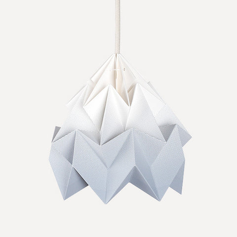 Moth Paper Origami Lamp, Gradient Gray - Readymade Objects Shop - 1