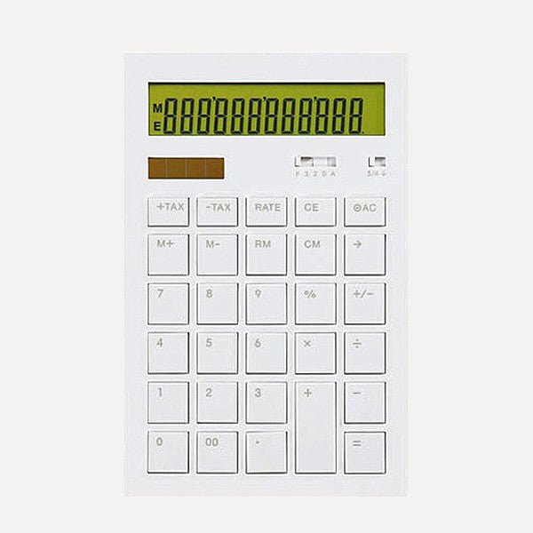 Calculator 12DD, White - Readymade Objects Shop - 1