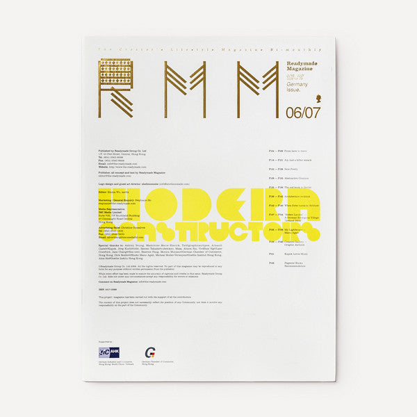 RMM Magazine, Vol.05, Germany Issue - Readymade Objects Shop - 1