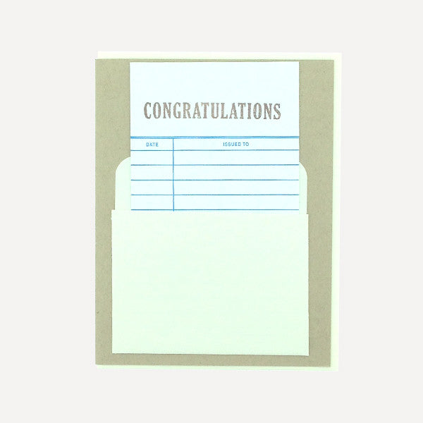Library Card, Congratulations - Readymade Objects Shop - 1