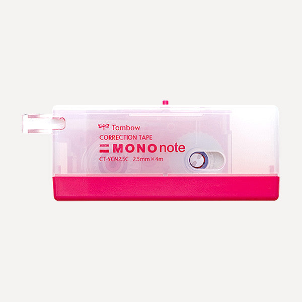 TOMBOW MONO Note Correction Tape, 2.5mm, Pink Color - Readymade Objects Shop - 1