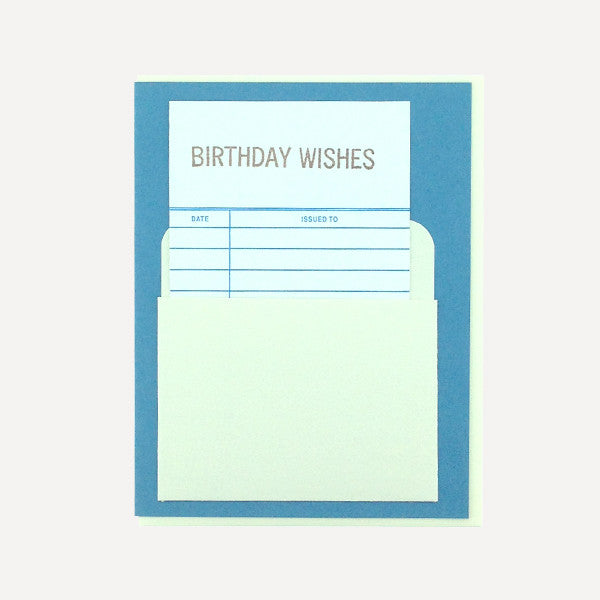 Library Card, Birthday Wishes - Readymade Objects Shop - 1
