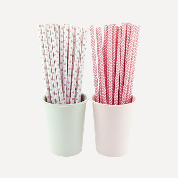 Paper Straw Girls Talk Set, 50pcs - Readymade Objects Shop