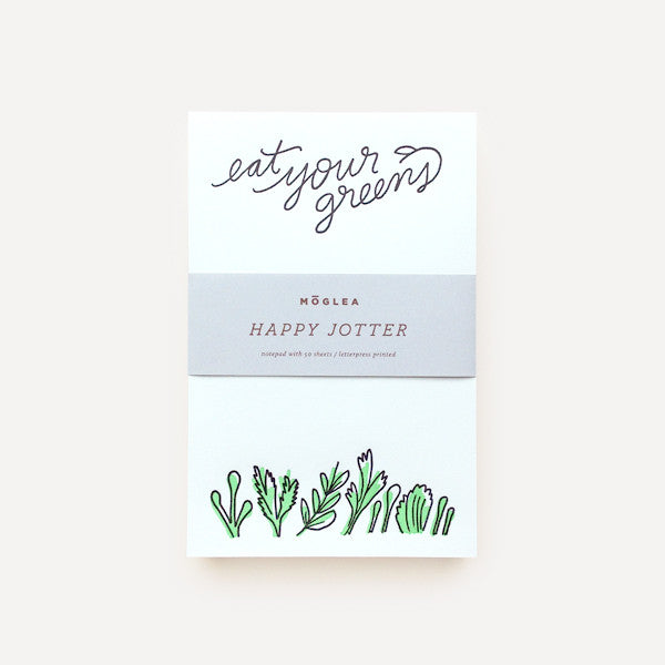 Happy Jotters, Green (Eat Your Greens) - Readymade Objects Shop - 1