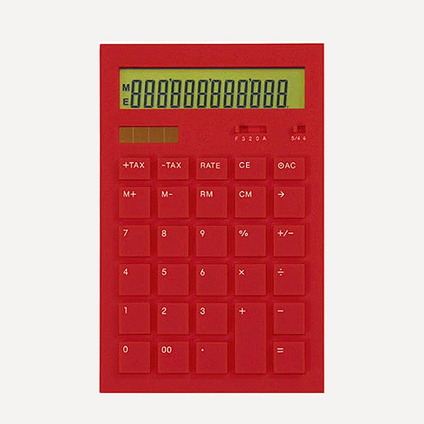 Calculator 12DD, Red - Readymade Objects Shop - 1