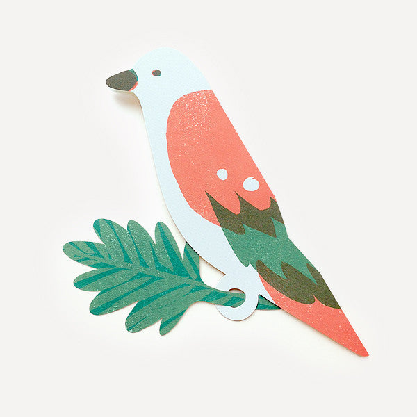 Parrot Greeting Card, Orange Version - Readymade Objects Shop