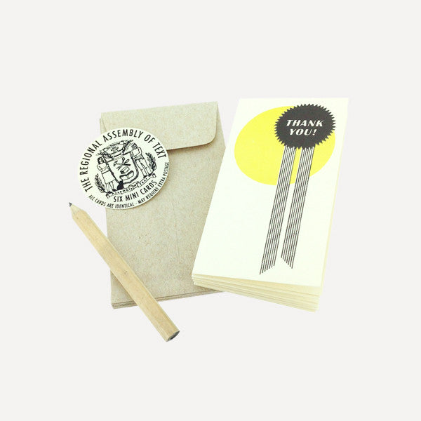 Mini Card Set, Ribbon (6 pcs / set) - Readymade Objects Shop - 1