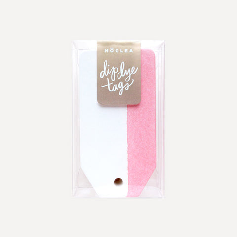 Dip Dye Tag, Pink (12 pcs / set) - Readymade Objects Shop - 1