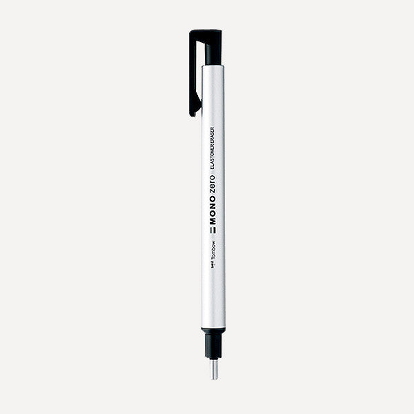 TOMBOW MONO Zero Eraser Pen EH-KUR04, Round point, Silver Color - Readymade Objects Shop - 1