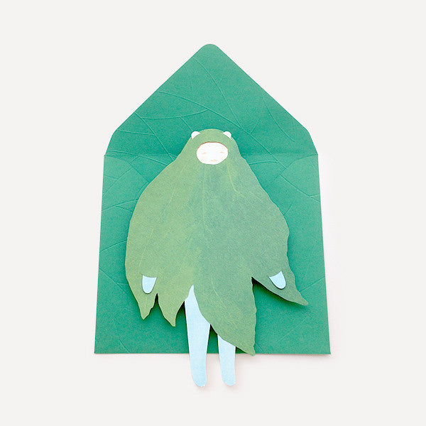 Girl and Leaf Greeting Card - Readymade Objects Shop - 1