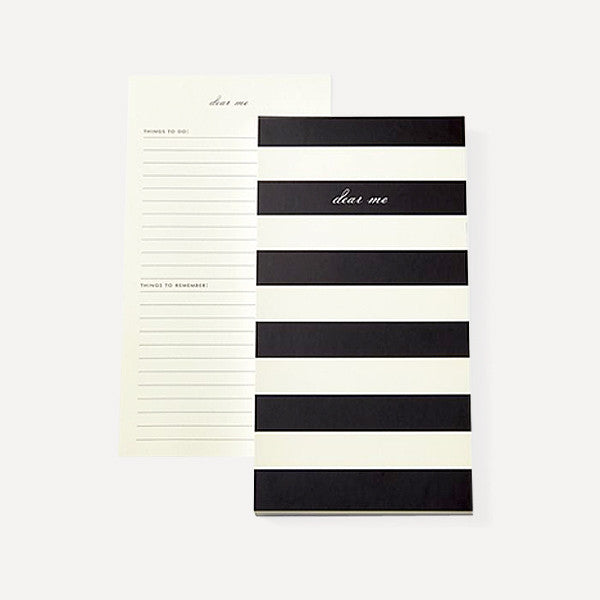 List Pad, Dear Me (Black Stripe) - Readymade Objects Shop - 1