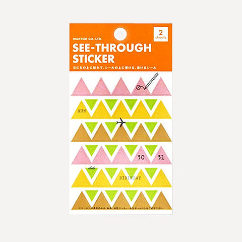 See Through Triangle Sticker, C set - Readymade Objects Shop - 1